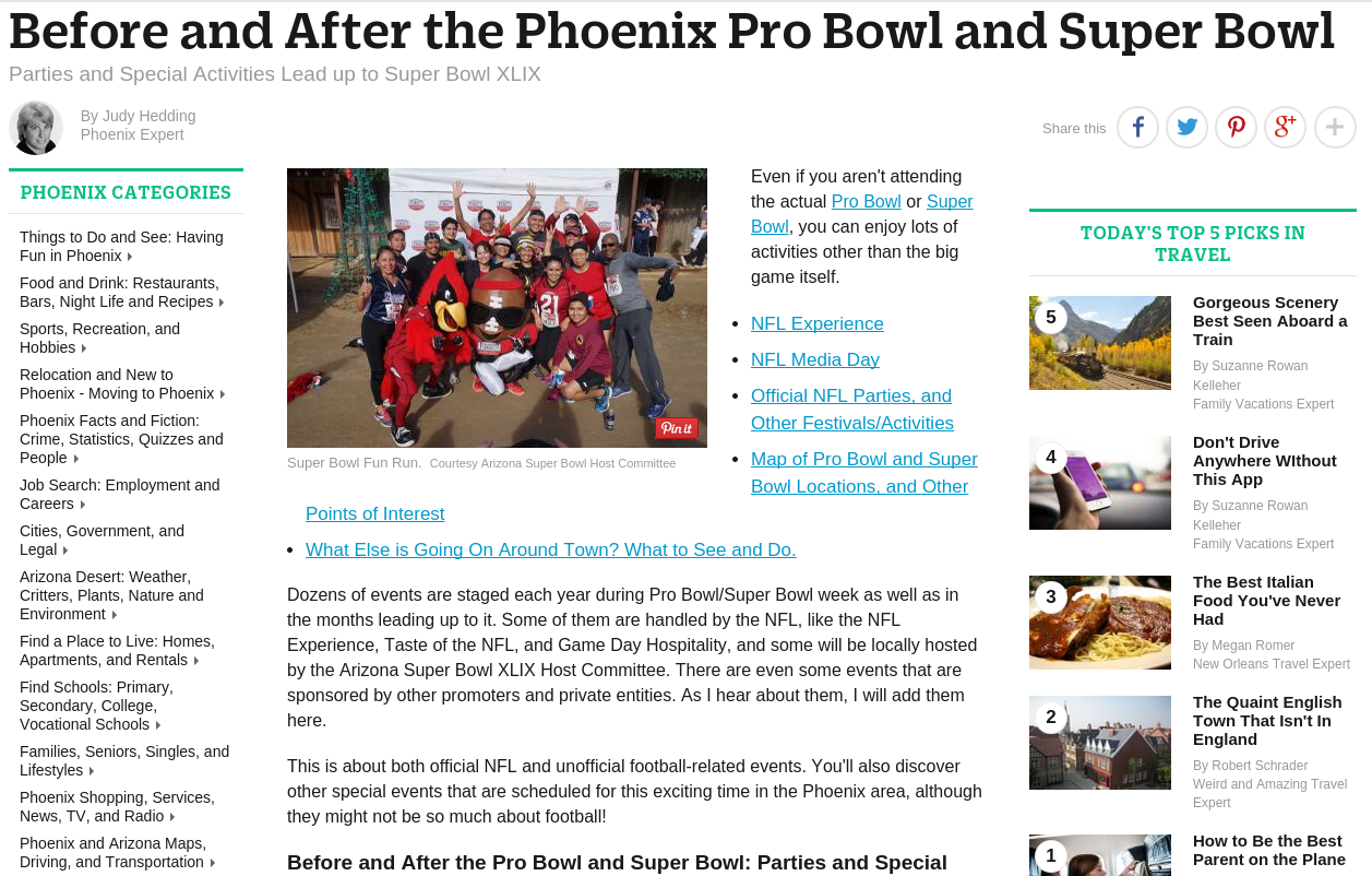 Before and After the Phoenix Pro Bowl and Super Bowl